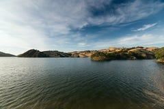 Puesta del sol en el lago del Valle Imagen de archivo