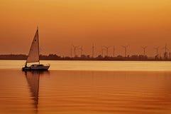 Puesta del sol en el lago Dummer Foto de archivo