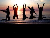 Puesta del sol en el lago Michigan Fotos de archivo libres de regalías
