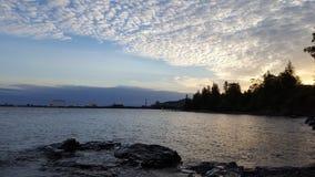 Puesta del sol en el lago Superior Fotografía de archivo libre de regalías