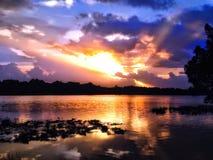 Puesta del sol en el lago turkey Fotos de archivo libres de regalías