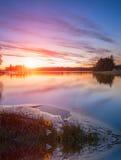 Puesta del sol en el mar Báltico Imagenes de archivo