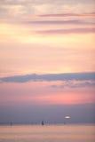 Puesta del sol en el mar Báltico Imagen de archivo libre de regalías