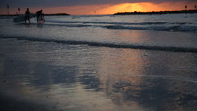 Puesta del sol en el mar, cielo, nubes metrajes