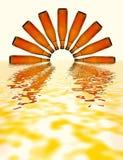 Puesta del sol en el mar de la cerveza Fotografía de archivo libre de regalías