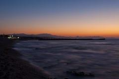 Puesta del sol en el mar Mediterráneo Fotos de archivo libres de regalías