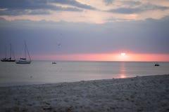 Puesta del sol en el Mar Negro Imagen de archivo libre de regalías