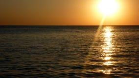 Puesta del sol en el Mar Negro Foto de archivo