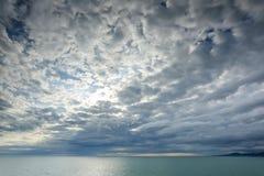 Puesta del sol en el Mar Negro ADLER, RUSIA Fotos de archivo libres de regalías