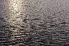 Puesta del sol en el Mar del Norte Fotos de archivo libres de regalías
