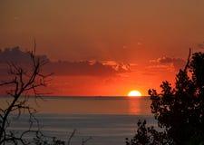 Puesta del sol en el montaje Baldy Imagen de archivo