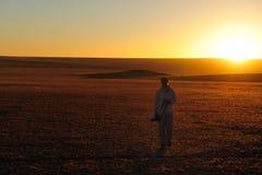 Puesta del sol en el Namib (Namibia) Fotos de archivo libres de regalías