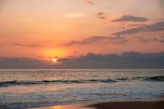 Puesta del sol en el Océano Índico Foto de archivo libre de regalías