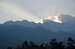 Puesta del sol en el PA del Sa Fotos de archivo libres de regalías