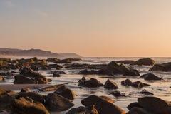 Puesta del sol en el Pacífico Imagenes de archivo