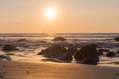 Puesta del sol en el Pacífico Fotografía de archivo libre de regalías