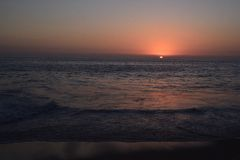 Puesta del sol en el Pacífico cerca de Cabo San Lucas Imagen de archivo