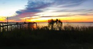Puesta del sol en el parque de Bayfront en Daphne, Alabama fotos de archivo libres de regalías