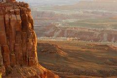 Puesta del sol en el parque nacional de Canyonlands Imagen de archivo libre de regalías