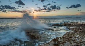Puesta del sol en el perouse del La, Sydney imagenes de archivo