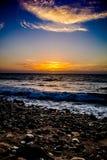 Puesta del sol en el picovoltio Foto de archivo