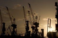 Puesta del sol en el puerto 2 Fotografía de archivo libre de regalías