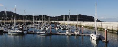 Puesta del sol en el puerto de Greystones Fotografía de archivo libre de regalías
