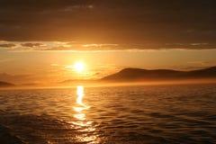 Puesta del sol en el puerto de viernes Fotografía de archivo libre de regalías