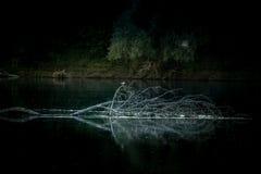 Puesta del sol en el río de Desna, Ucrania Fotografía de archivo libre de regalías