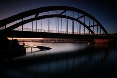 Puesta del sol en el río Kowie en el puerto Alfred Imagenes de archivo