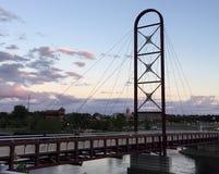 Puesta del sol en el Riverwalk Fotos de archivo libres de regalías