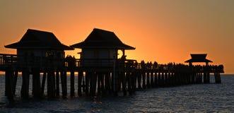 Puesta del sol en el sudoeste hermoso la Florida Imagen de archivo libre de regalías