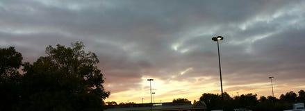 Puesta del sol en el sur Fotografía de archivo