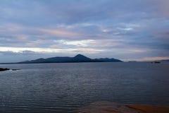 Puesta del sol en el sur del Brasil Imagen de archivo