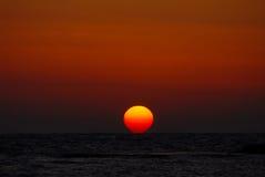 Puesta del sol en el teléfono Dor en Israel Imágenes de archivo libres de regalías