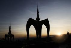 Puesta del sol en el templo Fotografía de archivo