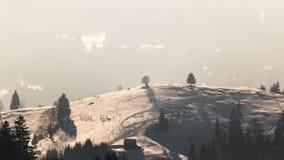Puesta del sol en el top de la colina Imagen de archivo libre de regalías