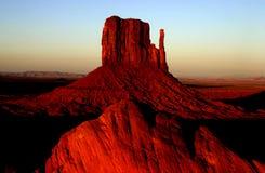 Puesta del sol en el valle del monumento Fotografía de archivo libre de regalías
