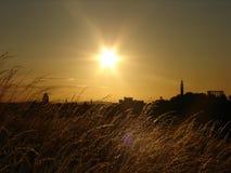 Puesta del sol en Escocia Imagen de archivo