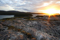 Puesta del sol en Escocia Fotografía de archivo libre de regalías