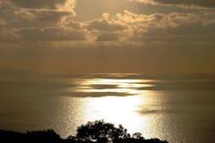 Puesta del sol en España Imagen de archivo libre de regalías