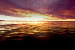Puesta del sol en Fiji foto de archivo libre de regalías