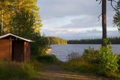 Puesta del sol en Finnland #4 Imágenes de archivo libres de regalías