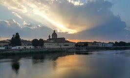 Puesta del sol en Firenze Fotos de archivo