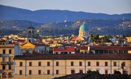 Puesta del sol en Florencia Foto de archivo