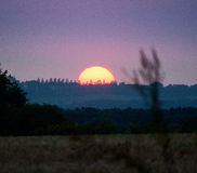 Puesta del sol en Francia Imágenes de archivo libres de regalías