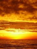 Puesta del sol en fuerte Myers Imagen de archivo