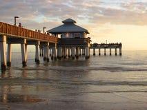 Puesta del sol en fuerte Myers, la Florida fotos de archivo