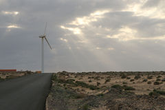 Puesta del sol en Fuerteventura Imagen de archivo