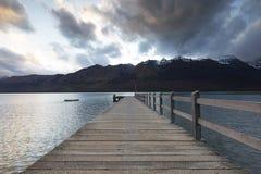 Puesta del sol en Glenorchy Fotografía de archivo libre de regalías